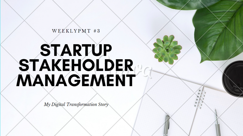weekly pmt 3 startup stakeholder management