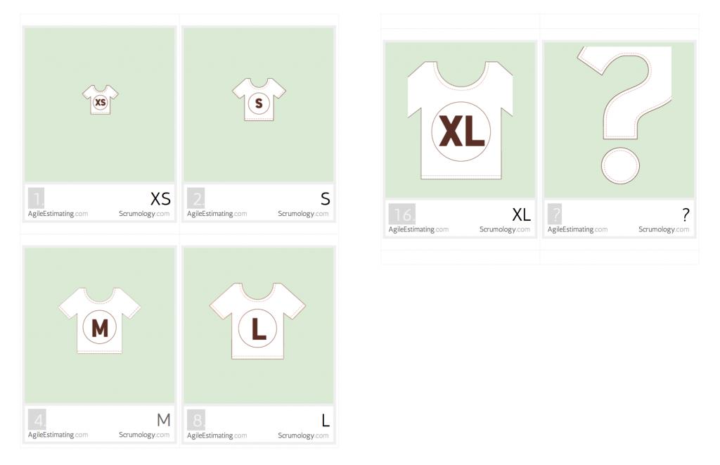 T-Shirt Sizing Agile Planning Poker